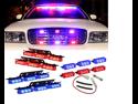 Blue Red 36x LED Emergency Vehicle Deck Strobe Warning Lights - 1 set