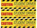 Set of 3 - Student Driver/Screaming Parents Magnets- Reflective
