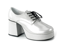 Silver 70s Disco Costume Mens Platform Shoe