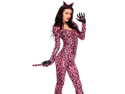 Womens Sexy Leopard Catsuit Costume