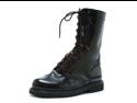 Mens Biker Punk Superhero Mid Calf Black Lace Up Combat Boots