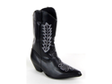 Girls Black Western Cowgirl Costume Boots