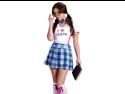 Sexy Funny Womens Nerd Nerdy Schoolgirl Geek Halloween Costume