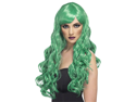 Sexy Long Green Curly Wavy Bangs Adult Anime Cosplay Wig