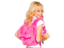 Schoolgirl Costume Accessory Hot Pink Faux Fur Backpack