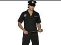 Mens Police Officer Uniform Adult Cop Halloween Costume