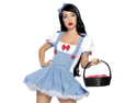 Sexy Cute Womens Dorothy Wizard of Oz Halloween Costume