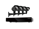 Defender 4CH H.265 500GB Smart Security DVR w/ 4 x 600TVL IR Cut Filter 100ft Surveillance Cameras