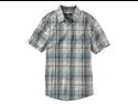 Ecko Unltd. Mens SS Med Plaid shirt - Lt Gry Dst - XS