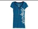 Aeropostale Juniors Stripes Henley Shirt 484 S