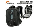 Lowepro LP35018-PEU Black Vertex 100 AW Backpack
