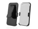 Apple iPhone 5, 3 In 1 Combo Set White Rubber Feel Case and Holster Beltclip