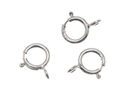 Sterling Silver Open Spring Ring Clasps 5mm (10)
