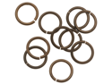 Vintaj   Natural Brass Jump Rings 10mm Heavy 15 Gauge (10