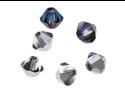 Preciosa Czech Crystal Bicone Beads 4mm Bermuda Blue/50