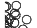 Chain Maille Jump Rings Black 18 Gauge/Id 5.56mm 110Pc