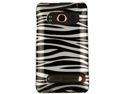 Reinforced Plastic Phone Design Case Cover Silver and Black Zebra For HTC EVO 4G