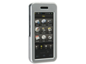 Solid Plastic Two Piece Phone Protector Silver Case For Samsung Instinct M800
