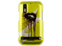 Hard Polycarbonate Plastic Two-Piece Snap-On Phone Protector Case Cover Shell with Cool Stylish Yellow Lip Image Design for Motorola PHOTON