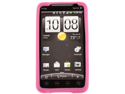 Silicone Skin Protector Cover Case Transparent Rose Pink For HTC EVO 4G