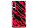 Hard Plastic Hot Pink Zebra Star Design Phone Protector Case for Motorola Droid 3