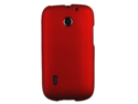 Rubberized Plastic Red Phone Protector Case For Huawei Fusion / Sonic