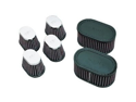 K&N Engineering Custom Clamp-On Air Filters - Oval - Rubber End Cap