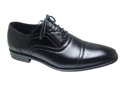 Mens Lace Up Wing Tip Oxfords Dress Shoes Leather Lined Free Shoe Horn Blk or Br
