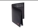 L Shape Trifold Mens Wallet Soft Lambskin Leather Secure Bill Section ID Window