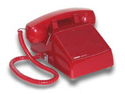 No Dial Desk Phone - Red - VK-K-1500P-D