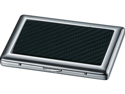 Reach Carbon Fiber Silver Plated Business Card Case