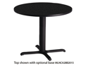 "Bistro Series 36"" Round Laminate Table Top, Anthracite - CA36RTANT"