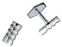 Twist Stainless Steel Cuff Links