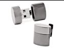 Gunmetal Oval 4GB USB Flash Drive Cufflinks
