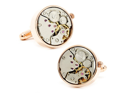 Steampunk Rose Gold tone Watch Movement Cufflinks