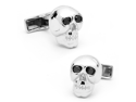 Sterling Skulls with Imitation Black Diamond Eyes Cufflinks