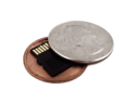 Covert Hollow Spy Coin Micro SD Card Holder (Quarter)