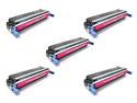 Cisinks ® 5 Pack Magenta Remanufactured HP Hewlett-Packard C9733A C9733 733A Laser Toner Cartridge For Color Laserjet 5500 Series 5500dn 5500dtn 5550 5550dn 5550dtn 5550hdn 5550n