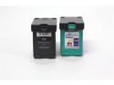 Cisinks ® 2 Pack (1 Black,1 Color) HP74 & HP75 ( CB335W & CB337W ) Remanufactured Ink Cartridge,Works with ALL HP printers that use 74/75 ink cartridge