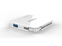 ORICO C3H4-WH Folding SuperSpeed USB 3.0 4-Port Hub for MAC/Windows/Linux [VIA VL812 Chipset]- White