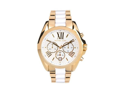 Michael Kors Gold Tone White Chronograph Women's Watch - MK5743