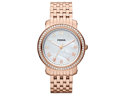 Fossil Womens Emma Rose Gold Tone Glitz Watch ES3186