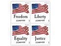 Four Flags Booklete of 20 x Forever us Postage First Class Mail Stamps NEW
