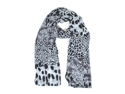 Women's Black And White Chiffon Scarf LS4620