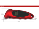 Red Digital Tire Pressure Gauge