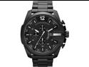 Men's Black Diesel Mega Chief Chronograph Steel Watch DZ4283