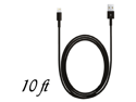 8 Pin to USB 10 ft Data Cable Charger for iPhone 5 iPod Touch 5th Nano 7th