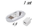 6FT 30 pin Data SYNC Cable + USB Wall Plug Adapter AC Wall Charger for iPod iPhone 4 4S