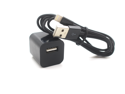 8Pin USB Data SYNC Charger Cable + USB Wall Plug Home Adapter for iPhone 5 5C 5S Black