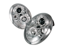 Mini Cooper Chrome Clear Halo Projector Head Lights